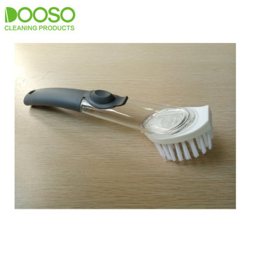 Changable Head Curved Handle Scrubber Brush DS-293