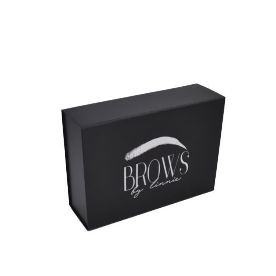 Customized Black Magnetic Folding Gift Paper Box