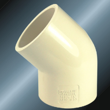 DIN PN16 Water Supply Upvc Elbow 45° Grey