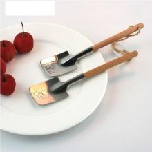 2pc Couples Dessert Spoon Stainless Steel Watermelon Spoon Creative Shovel Spoon Dessert Valentine Gift Tableware Dessert Tools