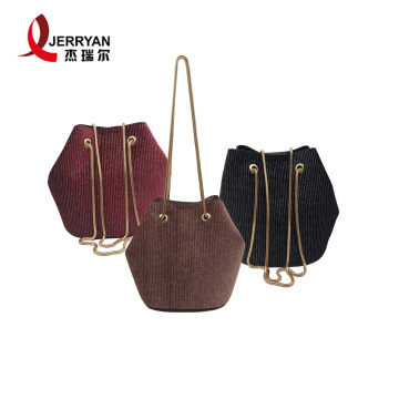 Young Ladies Drawstring Crossbody Sling Bucket Bag