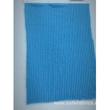 Blue Knitting Hacci Spandex Polyester Fabric Sweater