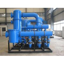 Threaded pipe heat exchanger