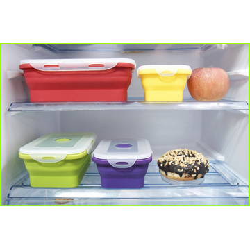 Set Of 4 Eco Silicone Lunch Box Set