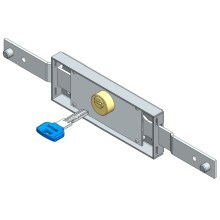 Central roller shutter lock computer key shifted bolt