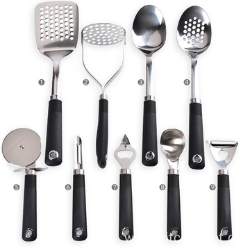 Kitchen gadgets set stainless steel cooking dining utensils