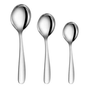 Dinner Round Soup Spoon Silver Stainless Steel Spoon