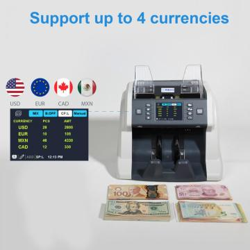 Multi Currency Mixed Denomination Bill Counting Machine