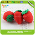 colorful strawberry shaped erasers mini size