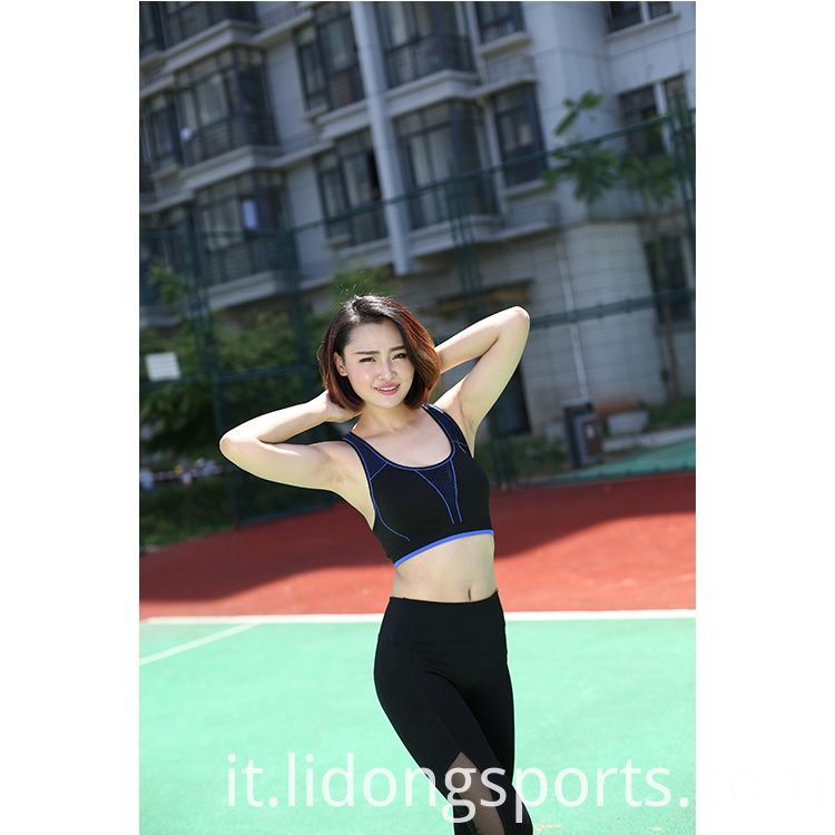 High Quality Wholesale Polyester Tank Tops Sport Fitness Tops For Women