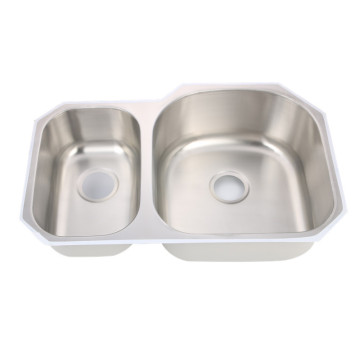 Undermount Double Bowl Kitchen Sink SS