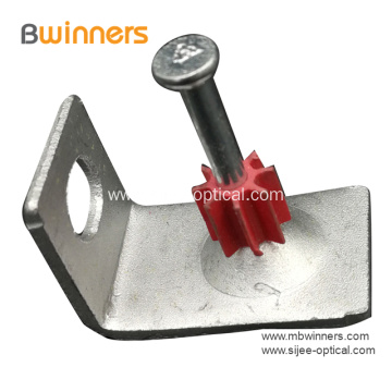 Fiber Optic Cable Clip With Concrete Nail For Fibers FTTH