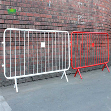 Road crowd control barriers