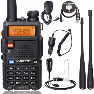 Baofeng BF-R3 Tri-Band Walkie Talkie 136-174/220-260/400-470MHz Amateur Ham Handheld Portable CB Radio Comunicador Transceiver