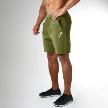 Men Muscle Breathable Shorts Pure Color Cotton Sports Shark Gym Fitness Shorts Men's Raw Edge Outdoor Training Compression Pants