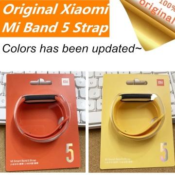 Original Xiaomi Mi Band 5 Strap Silicone Wristband Bracelet Xiaomi Mi Band5 Miband replacement Wrist Strap Xiomi Mi Band 5 Strap