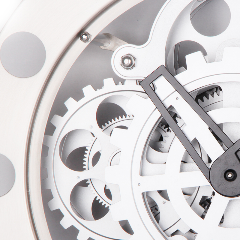 Stainless Steel Gear Wall Clock