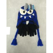 Animal Jacquard Patch Cute Embroidery Knitting Hat Gloves