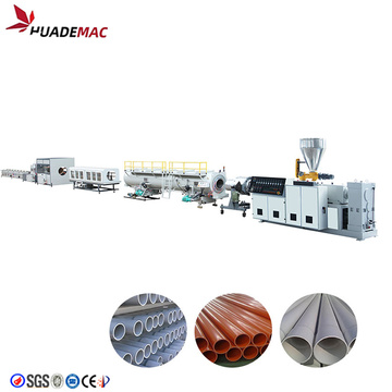 Electronic threading extrusion pvc pipe making machine
