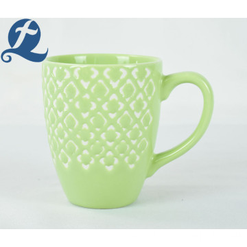 China style custom printed characteristic relief ceramic cup