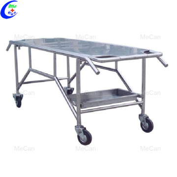 Stainless steel cheap moving corpse handling cart mortuary