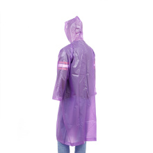 Plastic waterproof PEVA raincoat hooded with sleeves