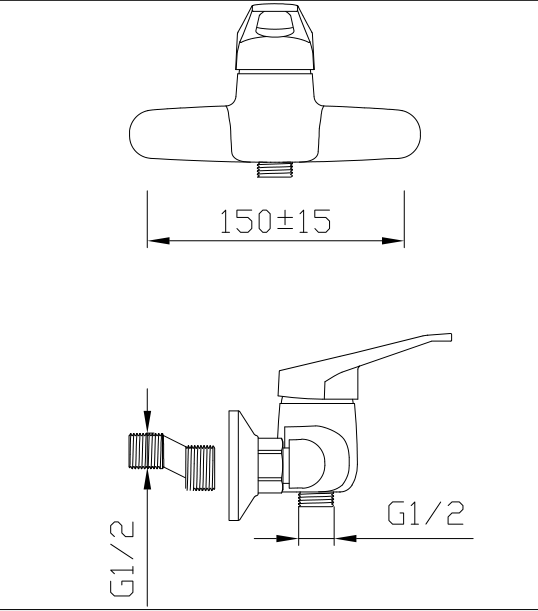 shower mixing valve drawing