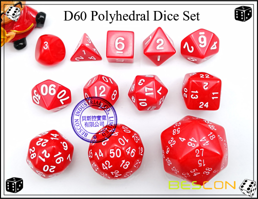 D60 Polyhedral Dice Set