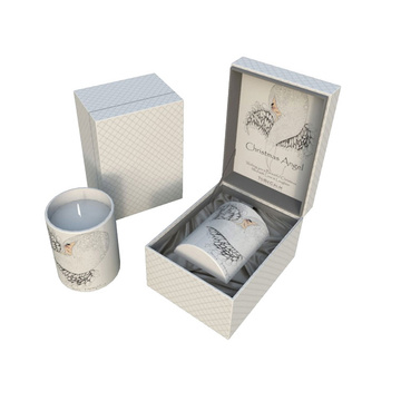 White Decorative Candle Gift Box with Inserts