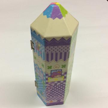 Paper pen-shaped cartoon stamp gift box