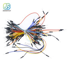 65pcs/lot Flexible Breadboard Jumper Cables Wire Breadboard Wires for arduino DIY Kit