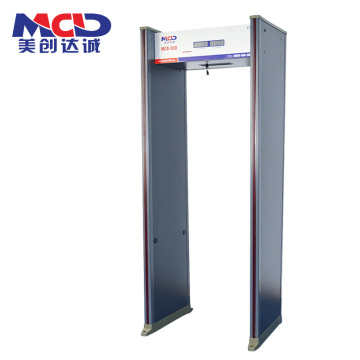 Waterproof walkthrough metal detector