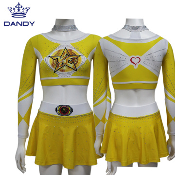 Custom Yellow Cheer Uniform For Youth