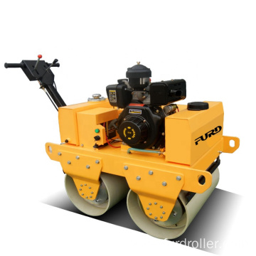 Cheap mini compactor double drum 550kg road roller FYL-S600C