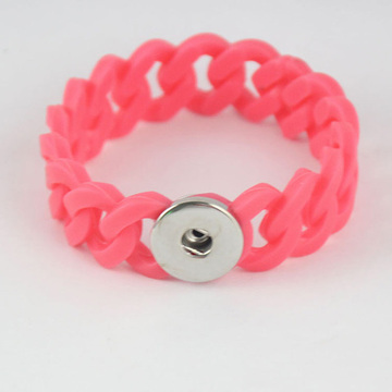 Multi Colors Twist Silicone Noosa Bracelets DIY Button Charm