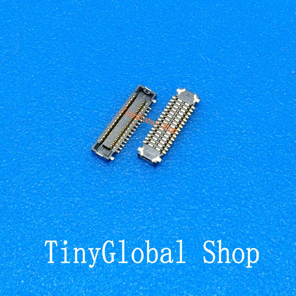 2pcs/lot Original LCD display FPC Connector Port Plug on mainboard For ASUS Zenfone 2 ZF2 ZE550ML ZE551ML Z00AD 30pin
