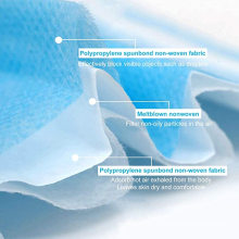 Non-woven Fabric Surgical Face Mask Medical Disposable