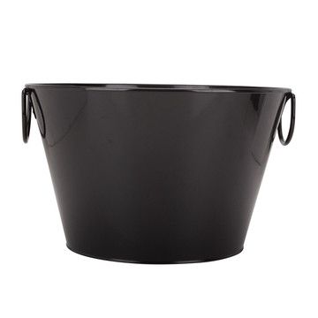 Black Coated Ice Bucket Water Bucket