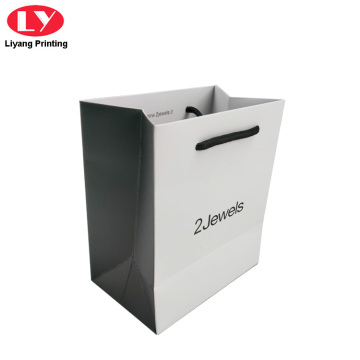 Custom Retail Bags Small Jewelry Paper bag Logos