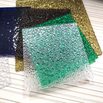 Diamond embossed sheet polycarbonate plastic sheet