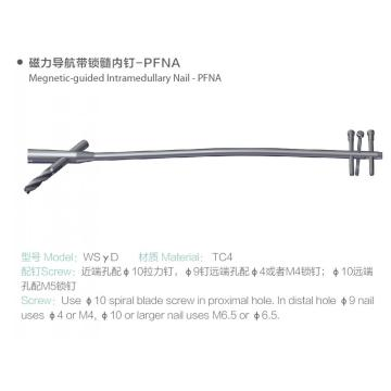 Femoral PFNA magnetic guided intramedullary Nail