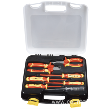 VDE 7pcs plier and screwdriver set