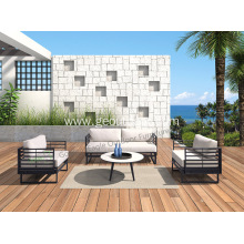 4pcs aluminyo na may HPL top garden sofa