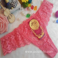 OEM wholesale China hot sale sexy thong comfortable watermelon red lace non-trace t-back elastic fancy underwear 002