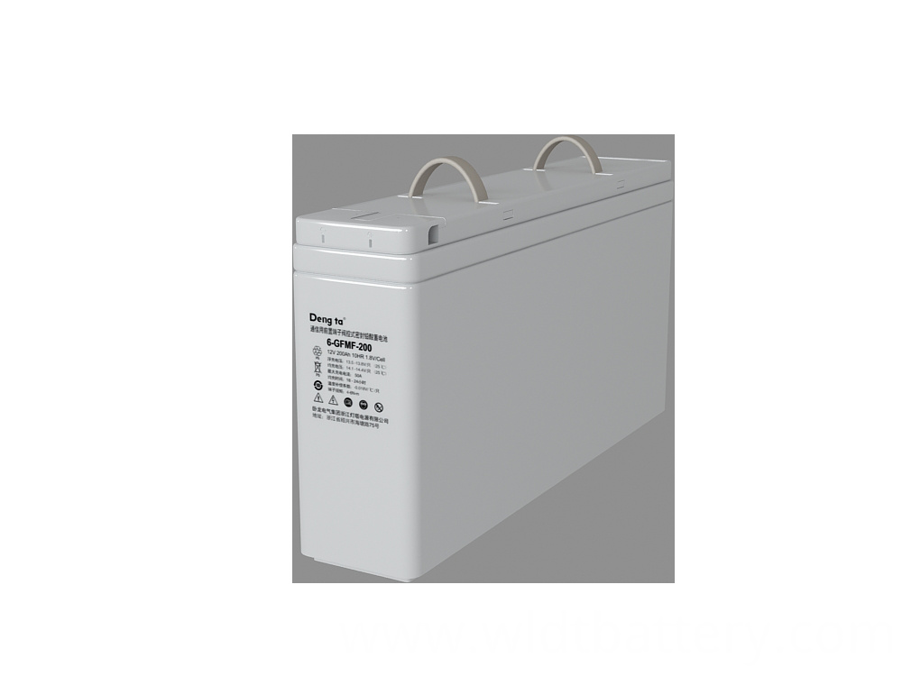 Front Terminal Lead Acid Battery, Long-life Maintenance Free Lead Acid Battery, 12V 200Ah VRLA Battery
