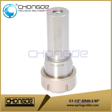 "ER40 1-1/2"" Collet Chuck With Straight Shank 2.95"""