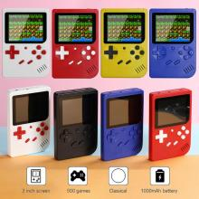 Video Games Console Built-in 500 Retro Classic Games 3.0 Inch Portable Pocket Game Console Mini Handheld Player for Kids Gift