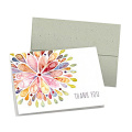 White Folding Custom Printing Thank You Greeting Card