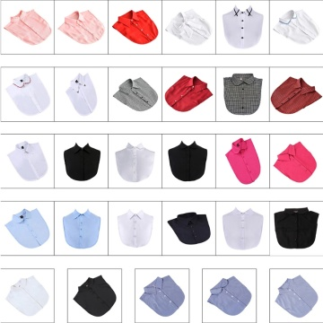 29 Styles Women Detachable Fake False Collar Solid Color Retro Plaid Check Chiffon Half Shirt Blouse Adjust Clothes Jy18 20