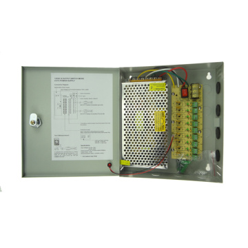 180W 12V 15A 9CH CCTV Power Supply Box